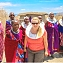 Tourist Visiting Maasai Village